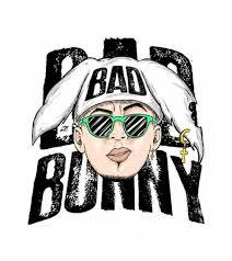 bad bunny para dibujar