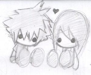 Dibujos a Lápiz de Amor para Mi Novia bonitos