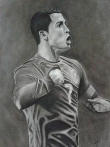 Dibujos a Lápiz de Cristiano Ronaldo
