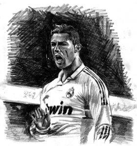 Dibujos a Lápiz de Cristiano Ronaldo real madrid