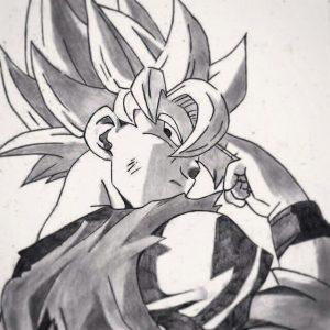 Dibujos de Goku a Lápiz Sayayin