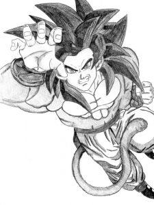 Goku a lapiz SS4