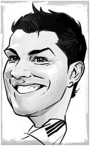 dibujos a lapiz de cristiano ronaldo divertidos