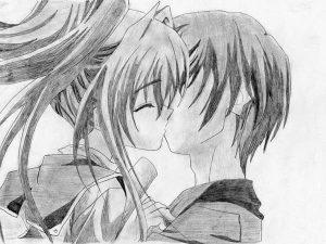 dibujos a lápiz de amor para mi novia