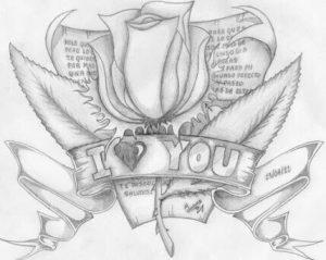 dibujos de amor para mi novia con lápi