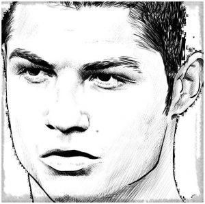 dibujos de cristiano ronaldo a lapiz