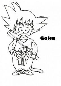 dibujos de goku niño a lapiz