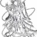 dibujos de los caballeros del zodiaco el lienzo perdido lapiz batalla