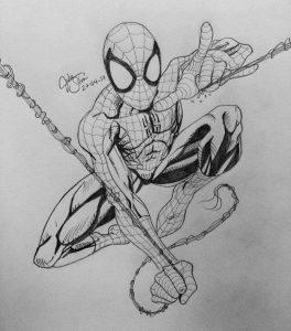 Los Mejores Dibujos De Spiderman A Lápiz Para Disfrutar De