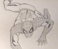 Dibujos a Lápiz de Spiderman chidos