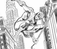 Dibujos de Spiderman a lápiz