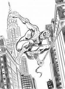 Dibujos de Spiderman con lápiz