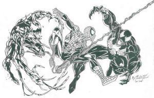 dibujo de spiderman