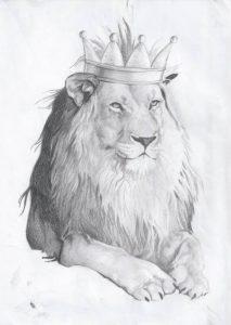 dibujos a lápiz de leones