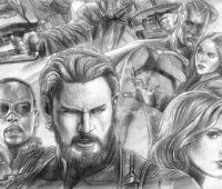 dibujos de los avengers a lápiz