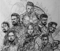 dibujos de los avengers infinity war