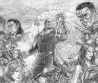 dibujos de los avengers infinity war a lapiz