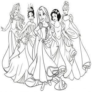 dibujos de princesas a lápiz