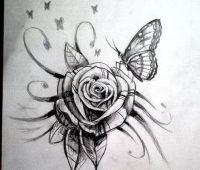 dibujos de rosas con lapiz