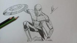 dibujos de spiderman civil war