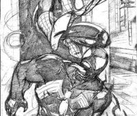 dibujos de spiderman vs venom