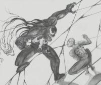 dibujos de venom vs spiderman