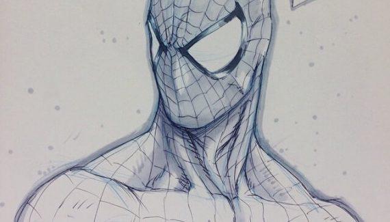 Dibujo Spiderman A Lapiz