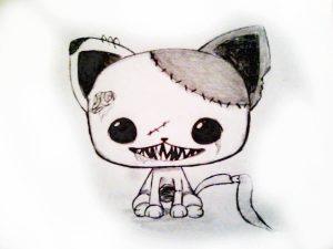 Dibujos De Gatos A Lápiz Sólo Para Amantes De Los Gatitos