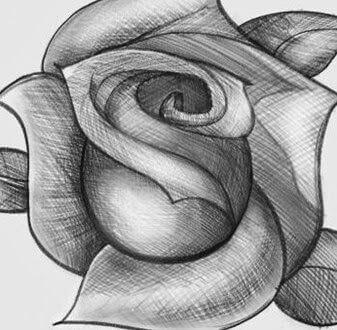 Dibujos A Lápiz De Rosas Dibujos A Lápiz