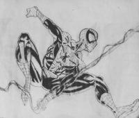 dibujos a lápiz de Spiderman