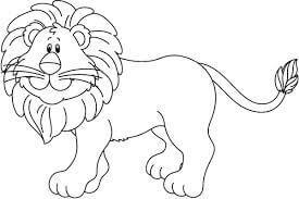 leon para colorear
