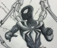 spiderman infinity war a lapiz