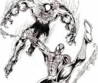 spiderman y vemom lapiz