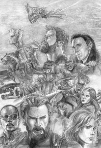dibujos de los vengadores a lapiz