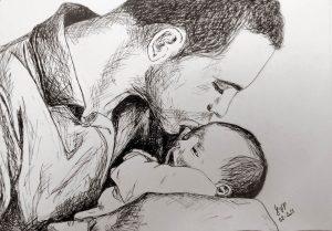 Dibujos del Día del Padre a Lápiz bonitos
