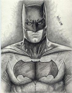 batman con lápiz