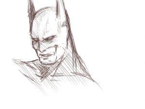 batman dibujado a lapiz