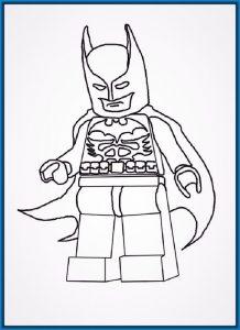 batman lego a lapiz