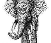 dibujo de elefante surrealista