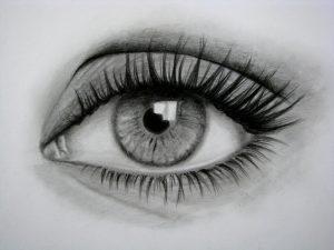 dibujo de un ojo a lápiz