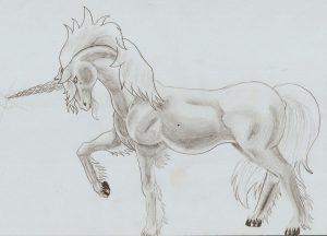 dibujos a lapiz de unicornios