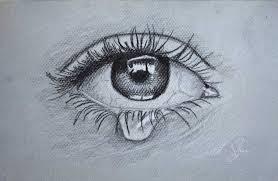 dibujos chidos de ojos llorando con lápiz