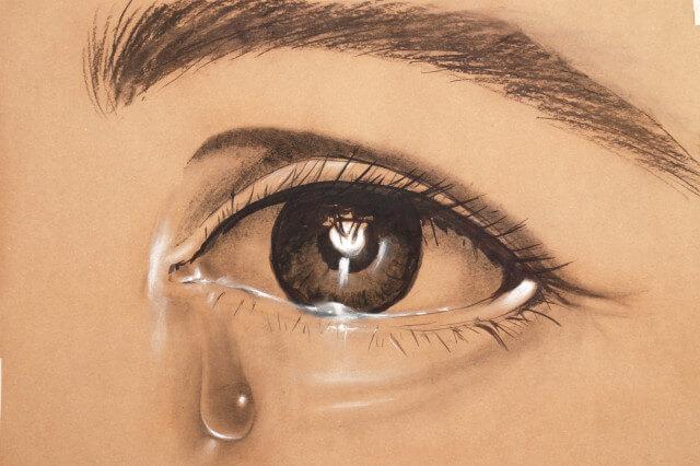 Dibujos A Lápiz De Ojos Llorando