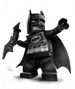 dibujos de batman lego a lápiz