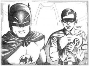 dibujos de batman y robin