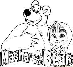 dibujos de Masha y el oso