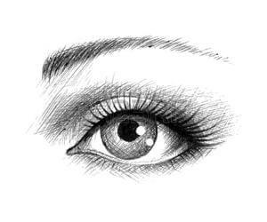 dibujos de ojos a lapiz