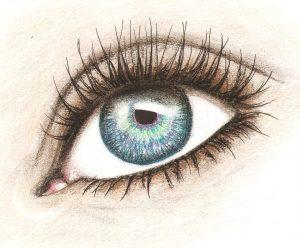 dibujos de ojos muy chidos