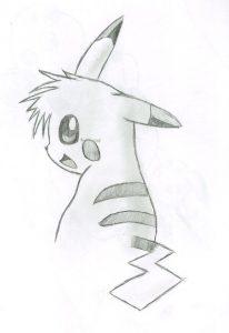 dibujos de pikachu a lápiz