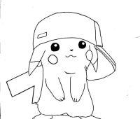 dibujos de pikachu chidos